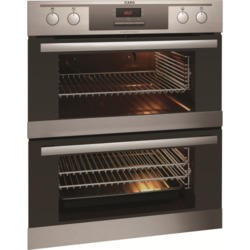 AEG Multifunction Electric Built-under Double Oven - Anti-fingerprint Stainless Steel