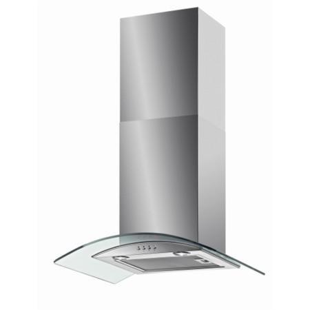 Baumatic BT6.3GL 60cm Stainless Steel Chimney Cooker Hood With Curved Glass Canopy