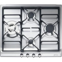 Smeg SER60SGH3 Classic Stainless Steel 60cm Gas Hob With Cast Iron Pan Stands