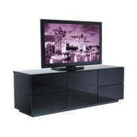 UKCF London Gloss Black TV Cabinet - Up to 60 Inch