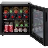 LEC DF50B Black Compact Counter Top Drinks Cooler