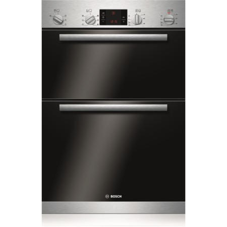 BOSCH HBM43B150B Classixx Multifunction Electric Built-in Double Oven - Brushed Steel
