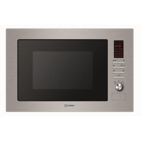 GRADE A1 - Indesit MWI2221X 24 L Built-in Microwave Oven With Grill Stainless Steel