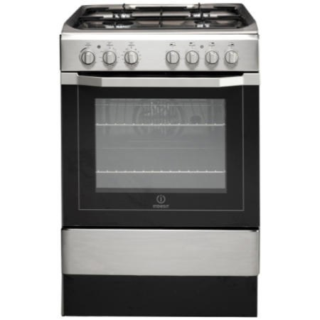 Indesit I6G52X 60cm Single Oven Dual Fuel Cooker - Stainless Steel ...