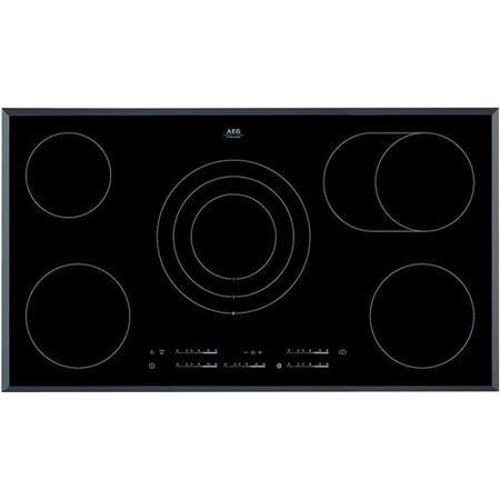 Grade A1 AEG HK955070FB Touch Control 90cm Wide Ceramic Hob - Black