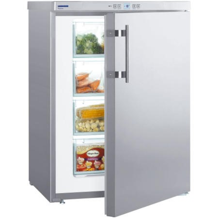 Liebherr GPESF1476 60cm Wide Freestanding Upright Freezer - Stainless Steel
