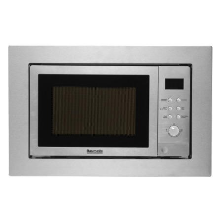 Baumatic Display 25 Litre Built-in Combi Microwave Oven in Stainless Steel