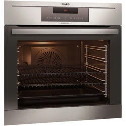 GRADE A1 - AEG BP730402KM COMPETENCE Electric Built-in Single Oven With PyroluxePlus Cleaning Antifingerprint Stainless Steel