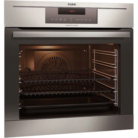 AEG BP730402KM COMPETENCE Electric Built-in Single Oven With PyroluxePlus Cleaning Antifingerprint Stainless Steel