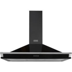 GRADE A3  - Stoves S1000 Richmond 100cm Wide Chimney Hood With Rail - Black