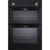 New World NW901G Gas Built In Twin Cavity Oven Black