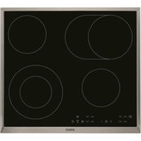 AEG HK634060XB OptiFit 58cm Touch Control Ceramic Hob With Stainless Steel Trim