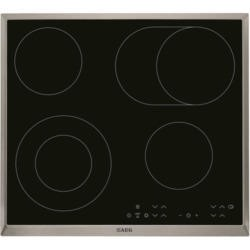 AEG HK634060XB OptiFit Touch Control Ceramic Hob With Stainless Steel Trim
