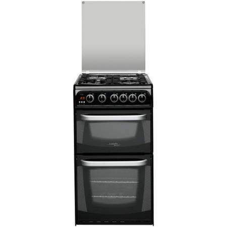 Hotpoint CH50GCIK Cannon 50m Twin Cavity Gas Cooker - Black