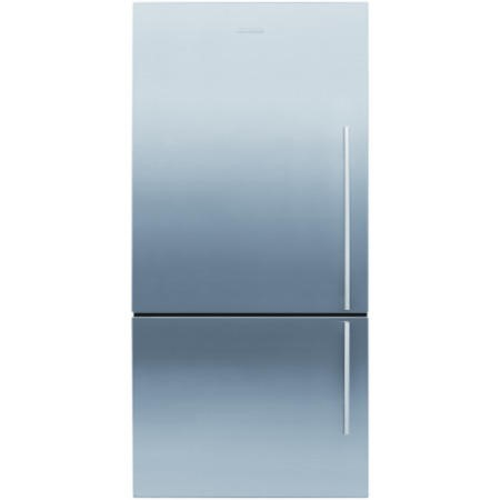 Fisher & Paykel E522BLXFD4 24156 79cm Wide Flat Door Left Hand Hinge Freestanding Fridge Freezer EZKleen Stainless Steel