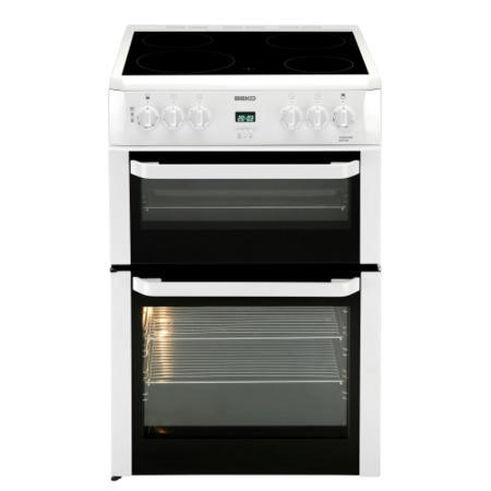 Beko BDVC664W White Double Oven 60cm Electric Cooker
