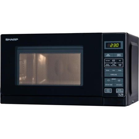 Sharp R272KM 800W 20L Freestanding Microwave in Black