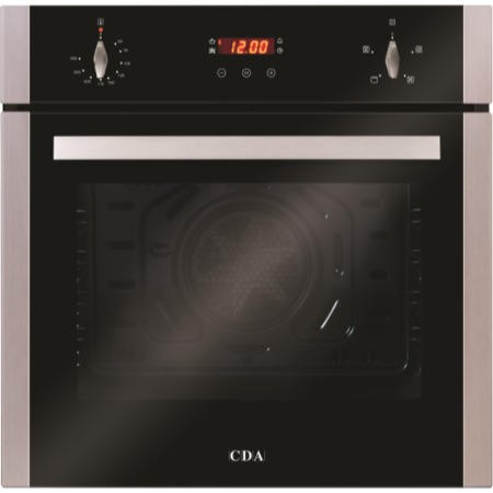 GRADE A1 - As new but box opened - CDA SC222SS Four Function Electric Built-in Single Fan Oven With Touch Control Timer - Stainless Steel