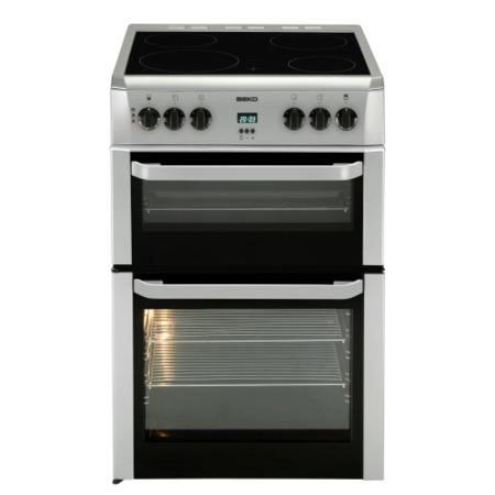 Beko BDVC664S Silver Double Oven 60cm Electric Cooker