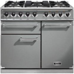 Falcon 98590 1000 Deluxe Dual Fuel Range Cooker - Stainless Steel - Matt Pan Stands