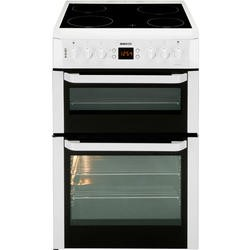 Beko BDVC667W Double Oven 60cm Electric Cooker with Programmable Timer White