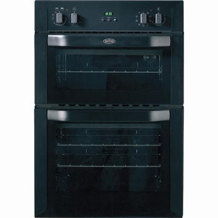 Belling BI90MF Multifunction Electric Built-in Double Oven in Black