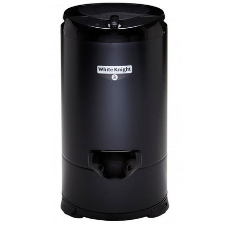 White Knight 28009B 4.1kg Gravity Drained Spin Dryer - Black