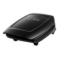 GRADE A3  - George Foreman 18850 Xs14 Compact 3 Portion Grill