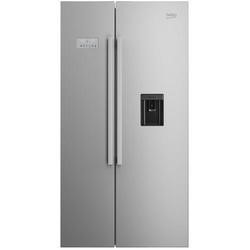 GRADE A1 - Beko ASD241X Stainless Steel Side By Side Fridge Freezer With Non-plumbed Water Dispenser