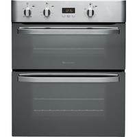 GRADE A3 - Hotpoint UHS53XS Electric Built-under Double Oven - Stainless Steel