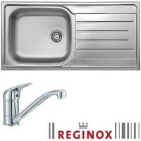 Reginox Daytona Reversible 1 Bowl Stainless Steel Sink & Miami Chrome Tap Pack