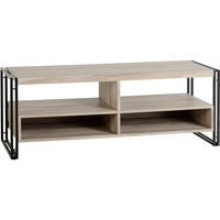 Warwick TV Unit - Oak Effect and Metal