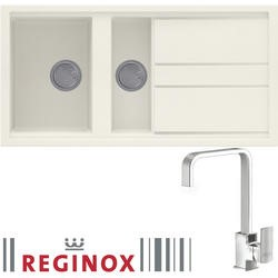 Reginox BEST475 Reversible 1.5 Bowl Cream Regi-Granite Composite Sink & Astoria Chrome Tap Pack
