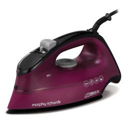 Morphy Richards 300263 Breeze Steam Iron With Ceramic Sole Plate Black And Mulberry