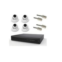 electrIQ IQ Pro CCTV 4CH 4 x 1MP IP Dome cameras 1TB Hard Drive