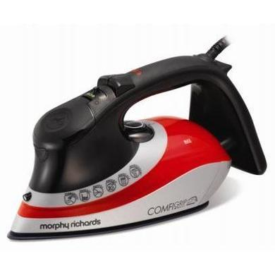 Morphy Richards 301011 Jul13 2400w Eco Comfigrip Steam Iron Black / Red