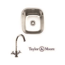 Taylor & Moore Ontario Undermount Single Bowl Stainless Steel Sink & Derby Chrome Tap Pack