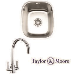 Taylor & Moore Ontario Undermount Single Bowl Stainless Steel Sink & Warwick Chrome Tap Pack