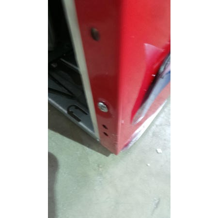 GRADE A2 - Light cosmetic damage - Servis T60170R Freestanding Retro Top Mount Fridge Freezer Red