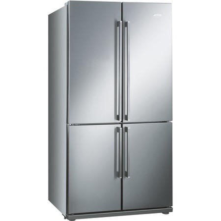 GRADE A3  - Smeg FQ60XP Stainless Steel 4-Door American Fridge Freezer With Convertible Compartment