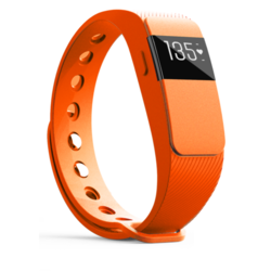 iQ FIT HR 2.0 Activity Fitness Tracker with Heart Rate + Extra Orange Wristband