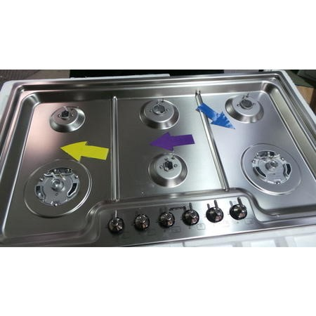 GRADE A3 - Smeg PGF96 Classic Stainless Steel Ultra Low Profile 6 Burner 87cm Gas Hob