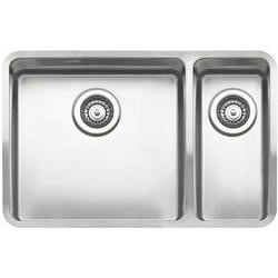 Reginox OHIO40X40+18X40-L 1.5 Bowl Integrated Stainless Steel Sink - Right Hand Small Bowl
