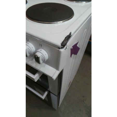 GRADE A3 - ElectriQ 50cm Electric Twin Cavity Cooker With Solid Hotplate - White