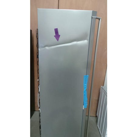 GRADE A3 - AEG A72710GNX0 1.85m Tall Freestanding Freezer - Silver With Anti-fingerprint Stainless Steel Door