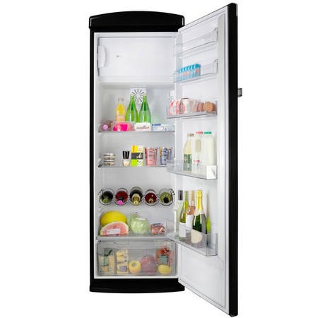 GRADE A2 - Servis R60170B Freestanding Retro Fridge Black