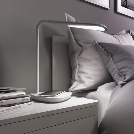 LED Desk Lamp with Wireless Charging For Your Mobile Phone- Qi Compatible