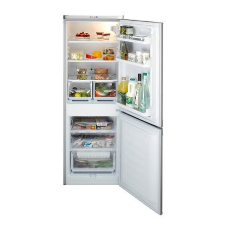 Indesit NCAA55S 157x55cm Freestanding Fridge Freezer Silver