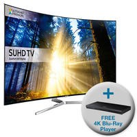 Samsung UE49KS9000 49 Inch Smart 4K SUHD HDR Curved TV with FREE 4K Ultra HD Blu-Ray Player