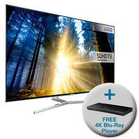 Samsung UE55KS8000 55 Inch Smart 4K Ultra HD HDR TV with FREE 4K Ultra HD Blu-Ray Player